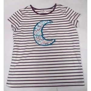 Hanna Andersson Girls Tee Shirt Size 11-12 Stripes